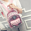 Маленький женский рюкзак паетки, фото 9