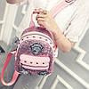 Маленький женский рюкзак паетки, фото 8