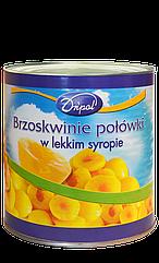 Персик консервированный кусочками 340г Dripol Польша