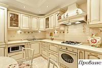 Кухни с деревянными фасадами Прованс