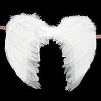 Крылья белые свадебные 55*40