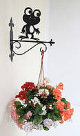 Настенная подставка для подвесного цветка Лягушка Л-2