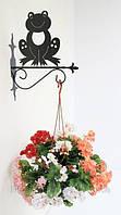 Настенная подставка для подвесного цветка Лягушка Л-3