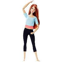 Кукла Барби из серии Безграничные движения Голубой топ c веснушками Йога (Barbie® Made to Move™ Doll -Blue Top, фото 1