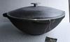 Казан-кастрюля чугунная, на 10 литров с алюминиевой крышкой