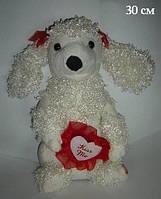 Мягкая игрушка интерактивная собака 1650-1 с сердцем
