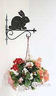 Настенная подставка для подвесного цветка Заяц  З-1