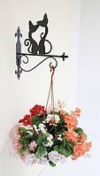 Настенная подставка для подвесного цветка Коты К-1