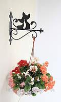 Настенная подставка для подвесного цветка Коты К-2