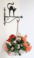 Настенная подставка для подвесного цветка Кошка К-4