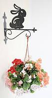 Настенная подставка для подвесного цветка Кролик Кр-2