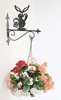 Настенная подставка для подвесного цветка Кролик Кр-3