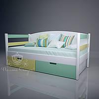 Кровать-софа + ящики. Массив ольхи, МДФ, фото 1