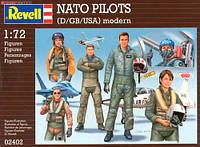 Военные лётчики NATO PILOTS (D/GB/USA) modern, 1:72, Revell (02402)