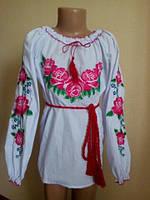 """Вышиванка для девочки""""Розы-5"""" раз-134см."""