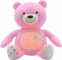 Игрушка музыкальная Медвежонок (розовый), Chicco (08015.10)