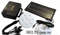 Современный набор из ламп и солнечной зарядки GDLITE GD-8006 (4000 мАч), солнечная система, фото 1