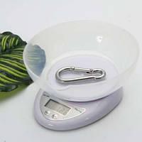Электронные кухонные весы 5кг, точность 1г с чашей