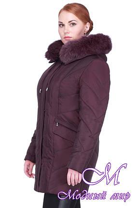 Женская зимняя куртка большого размера (р. 48-64) арт. Жардин мех, фото 2