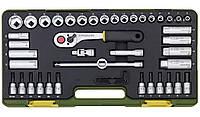 """Компактный набор инструмента со средней флажковой трещоткой Proxxon 3/8"""", 44 предмета"""