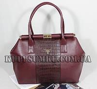 Стильная комбинированная сумка для деловой женщины