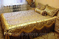"""Дизайнерское покрывало на кровать """"Помпадур"""""""