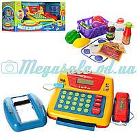 """Игровой набор касса """"Магазинчик"""": калькулятор, микрофон, сканер, продукты + звук/свет"""