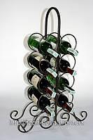 Подставка под бутылки 602 ЧЕРНЫЙ (мини бар на 8 бутылок)