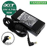 Блок питания зарядное устройство ноутбука Acer TravelMate 5720 TM5720G, 5742G, 5760, 5760G, 600 TM600TER