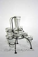 Подставка под графин и стаканы 05  (мини бар кованый под графин и стаканы)