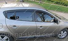Вітровики вікон Рено Меган 3 (дефлектори бокових вікон Renault Megane 3)