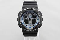 СПОРТИВНЫЕ НАРУЧНЫЕ ЧАСЫ CASIO G-SHOCK GA-100 BLACK WHITE
