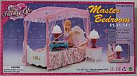 """Мебель """"Спальня"""" для куклы, кровать, тумбочки, светильники, в коробке, фото 1"""