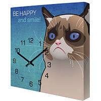 Часы настенные с принтом Будь счастлив