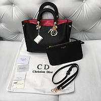 Сумка Dior Diorissimo medium черная кожа