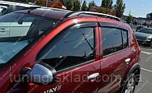 Вітровики вікон Рено Сандеро 1 (дефлектори бокових вікон Renault Sandero 1)