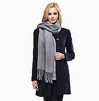 Кашемировый шарф-палантин серый