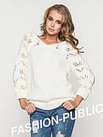 Вязанный свитер v-образный вырез 3 цвета