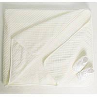 Детские одеяла для новорожденных в роддом.3108KAY+GERDA. Махра нейтральных расцветок 90x120см.