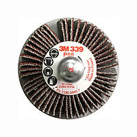 Лепестковая щетка на шпинделе 3M™ 339 SM, 30х10х6 мм, P120, 64478
