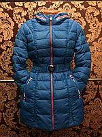Зимняя куртка женская. Голубая