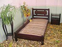 """Кровать односпальная для гостиниц """"Магия Дерева"""". Массив - сосна, ольха."""