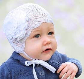 Головний убір для малюків Білий Осінь розмір 38-42, 3-002510 Tutu Польща