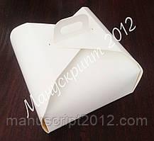 Коробка для торта 170х170х110 с ручкой