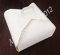 Коробка для торта 290х290х120 мм. с ручкой