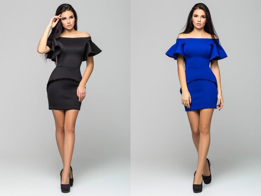 Женское вечернее платье с открытыми плечами - TIASS - женская одежда обувь  от фабрик Украины. 07b04c61ba5