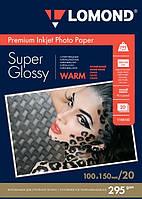 Бумага для струйных принтеров суперглянец Lomond 295 г/м, 10х15, 20л.