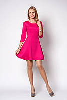 Изысканное женское платье розового цвета
