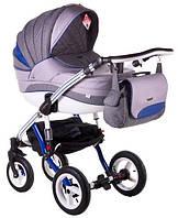 Детская коляска универсальная 2 в 1 Adamex Aspena Grand Prix Collection Blue - White 5 Адамекс Аспена