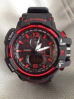 Мужские спортивные водостойкие часы G-SHOCK (копия), красные, фото 1